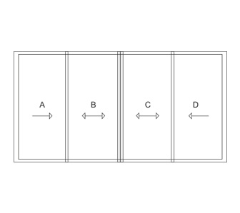 aluminium slimline sliding doors
