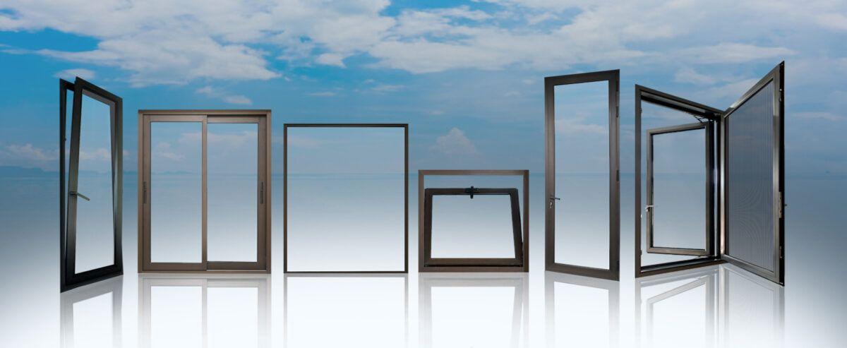 Different types of aluminium windows