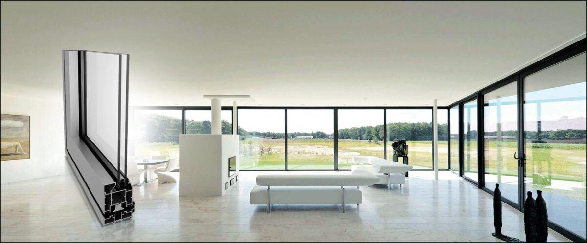 single and double glazed aluminium windows