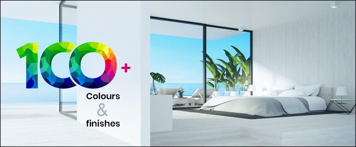 100 laminate colours and finishes of aluminium windows and doros